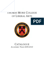 Thomas More College 2009-10 catalogue