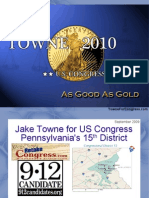 Jake Towne for US Congress PA-15 - Talk to East Penn Taypayer's Association (Sept 2009)
