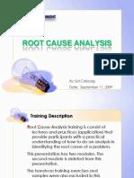 Root Cause Analysis Training Ver 0
