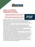 com 0522, 201205 Eugenio Hernández Flores y PEMEX pactan para un mejor desarrollo sustentable de Tamaulipas.
