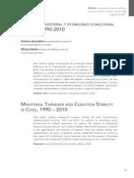 Avendaño & Dávila - Rotación ministerial y estabilidad coalicional en Chile  90-10