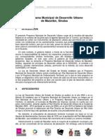 Formulacion Del Proyecto Del PMOT Mazatlan