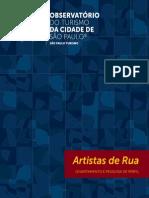 Artistas Rua observatório do Turismo