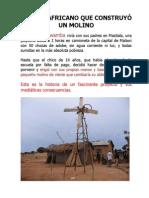 EL NIÑO AFRICANO QUE CONSTRUYO UN MOLINO