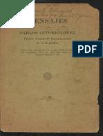 Mensaje Carlos Antonio López Presidente Constitucional del Paraguay