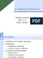 Location Sensing (Inference) Team2-CS492 Proposal