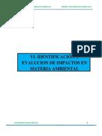 Capitulo Vi Identificacion y Evaluacion de Impactos en Materia Ambiental