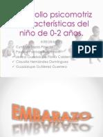 EVIDENCIA 15 desarrollo psicomotriz y caracteristicas del niño de 0-2 años