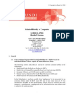 Artikel -- Criminal Liability of Companies in the Netherlands