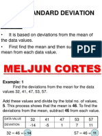 MELJUN CORTES Standard Deviation