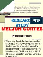 MELJUN CORTES Study Examining the Effects Transformational Leadership