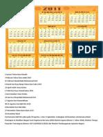 Hari Libur Nasional Tahun 2011 Dan Tahun 2012