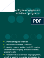 Employee Engagement Activities
