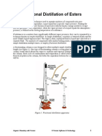 Fractional Distillation Esters