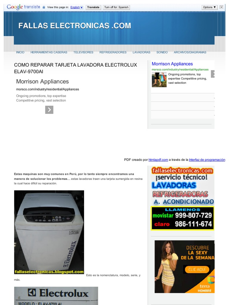 Como reparar tarjeta lavadora html for Como reparar una lavadora