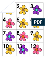 Flower Calendar Pieces a ABC