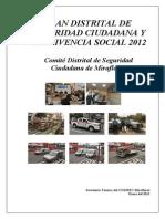 PLAN 10069 9.- Plan Distrital de Seguridad Ciudadana y Convivencia Social 2012. 2012