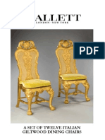 TWELVE ITALIAN GILTWOOD DINING CHAIRS