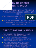 History of Credit Rating in India