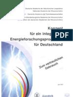 Konzept integriertes Energieforschungsprogramm