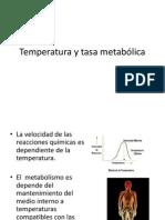 Temperatura y Tasa Metabolica