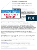 SNAP 2013 Results