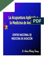 acupuntura y la medicina de aviación