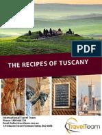 Recipes of Tuscany - Travel Team FREE CALL 1800-66-TRAVEL