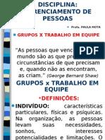 Gerenc. de Pessoas - Aula 4 Grupos e Trabalho Em Equipe
