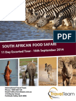 South Africa Food Safari - Travel Team