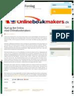Nyd og Bet Online med Onlinebookmakers