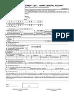 RRC RAGP Application Form English