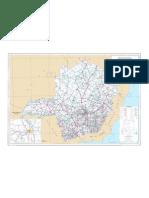 Mapa Rodoviário de Minas Gerais