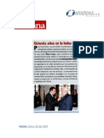 Revista Semana condecoración Alvaro Isaza G