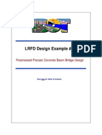 LRFD Design example Nº1. Prestressed prescast concrete beam bridge design (MATLAB)