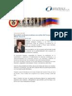 Reconocimiento del Senado a Alvaro Isaza