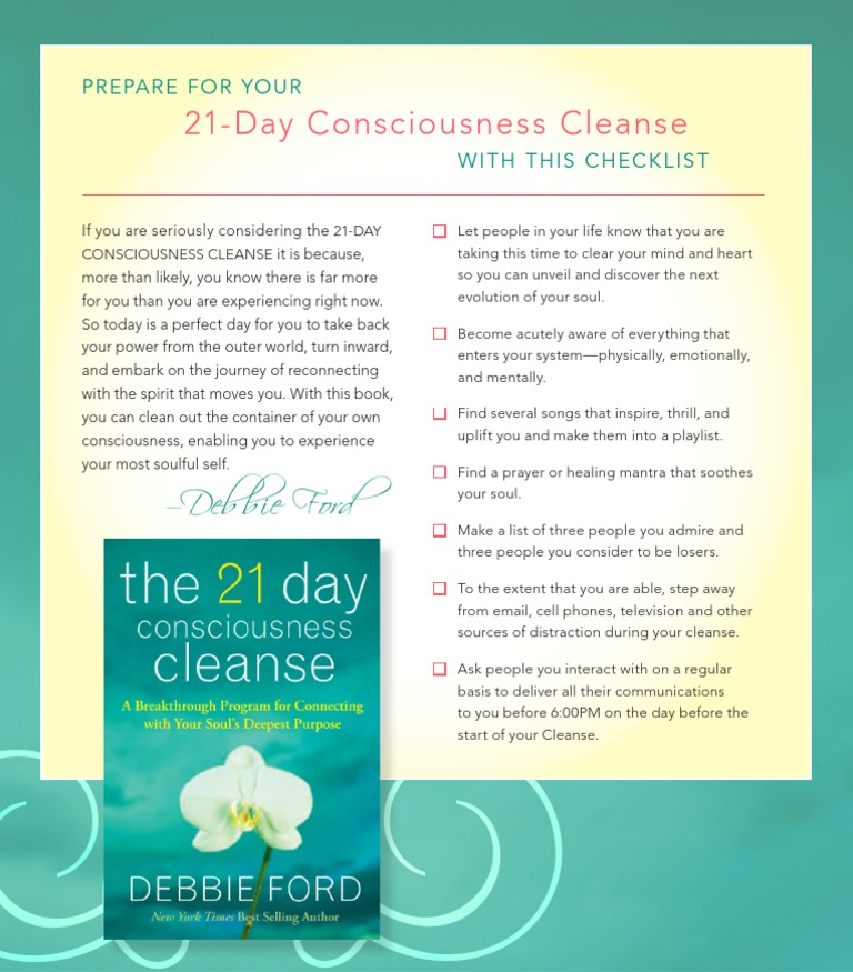 21 day consciousness cleanse checklist fandeluxe Image collections