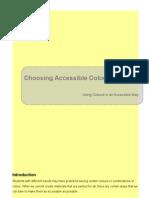 WebCT Developers Choosing Accessible Colour Schemes - Edge Hill University