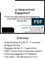 Cross Generational Engagement using Social Media