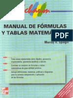 Manual de Fórmulas y Tablas Matemáticas Murray R. Spiegel