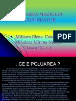 Poluarea Mediului Inconjurator Cls 9a