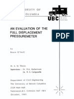 An Evaluation of Full Displacement Pressuremeter