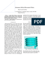 High Performance Helical Resonator Filters
