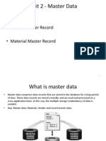 Unit 2 Master Data