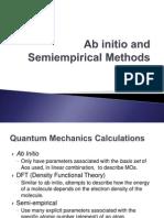 Ab Initio and Semiempirical Methods