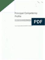 Principal Competency Profile - Part I