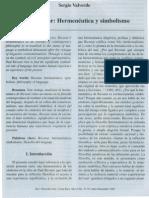 Paul Ricoeur Hermeneutica y Simbolismos