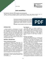 Flavonoids of Crotalaria Sessiliflora