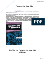 The Marxist Paradox- An Anarchist Critique