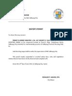 CPSCi Mayors Permit